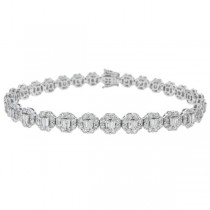 6.34ct 18k White Gold Diamond Lady's Bracelet