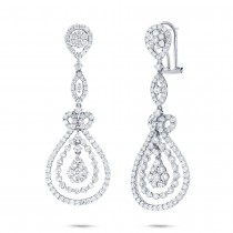 4.27ct 18k White Gold Diamond Earrings