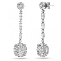 3.23ct 18k White Gold Diamond Earrings