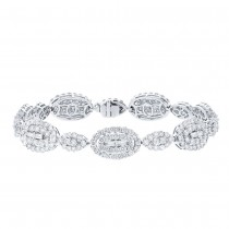 7.58ct 18k White Gold Diamond Lady's Bracelet