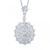 2.36ct 18k White Gold Diamond Pendant Necklace