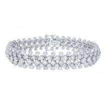 13.94ct 18k White Gold Diamond Lady's Bracelet