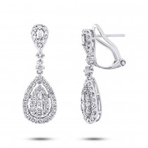 1.41ct 18k White Gold Diamond Earrings