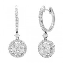1.29ct 18k White Gold Diamond Earrings