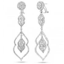 5.60ct 18k White Gold Diamond Earrings