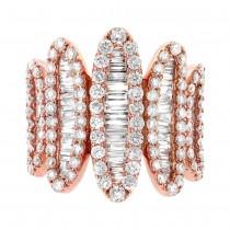 2.70ct 18k Rose Gold Diamond Lady's Ring
