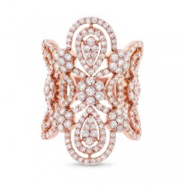 4.43ct 18k Rose Gold Diamond Lady's Ring