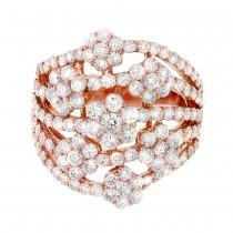 3.16ct 18k Rose Gold Diamond Lady's Ring