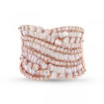 3.62ct 18k Rose Gold Diamond Lady's Baguette Ring