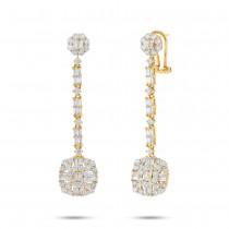 2.41ct 18k Yellow Gold Diamond Earrings