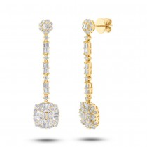 3.23ct 18k Yellow Gold Diamond Earrings
