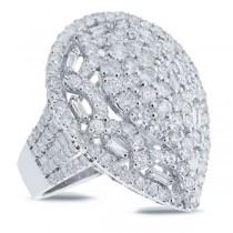 3.98ct 18k White Gold Diamond Lady's Ring