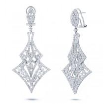 4.80ct 18k White Gold Diamond Earrings