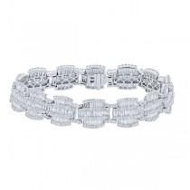 9.21ct 18k White Gold Diamond Lady's Bracelet