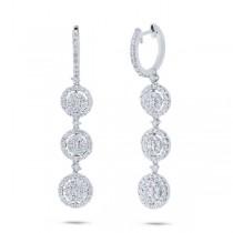 2.52ct 18k White Gold Diamond Earrings