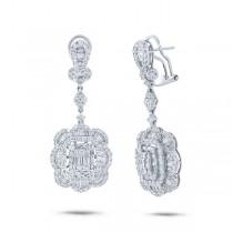 4.16ct 18k White Gold Diamond Earrings