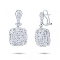 3.22ct 18k White Gold Diamond Earrings