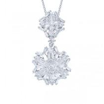 1.94ct 18k White Gold Diamond Pendant Necklace