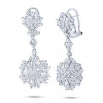 3.51ct 18k White Gold Diamond Earrings