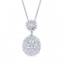 3.01ct 18k White Gold Diamond Pendant Necklace