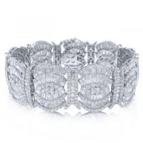 26.71ct 18k White Gold Diamond Lady's Bracelet