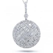 3.72ct 18k White Gold Diamond Pendant Necklace
