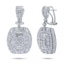 4.17ct 18k White Gold Diamond Earrings