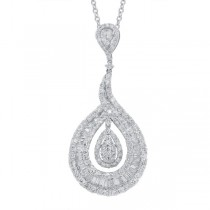5.01ct 18k White Gold Diamond Pendant Necklace