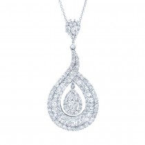 5.50ct 18k White Gold Diamond Pendant Necklace