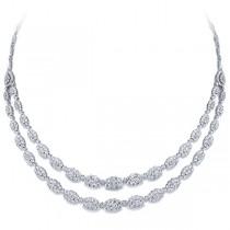 14.47ct 18k White Gold Diamond Necklace
