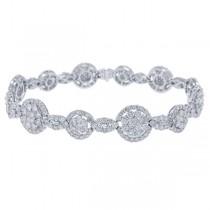 7.96ct 18k White Gold Diamond Lady's Bracelet