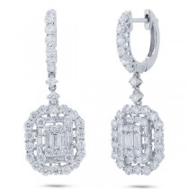 2.41ct 18k White Gold Diamond Earrings