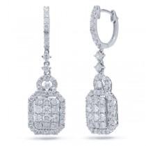 1.86ct 18k White Gold Diamond Earrings