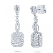 1.30ct 18k White Gold Diamond Earrings