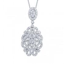 2.20ct 18k White Gold Diamond Pendant Necklace