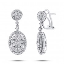2.44ct 18k White Gold Diamond Earrings