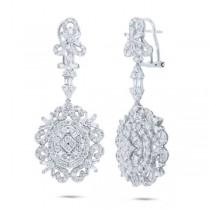 4.60ct 18k White Gold Diamond Earrings