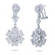 2.69ct 18k White Gold Diamond Earrings