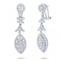 2.16ct 18k White Gold Diamond Earrings