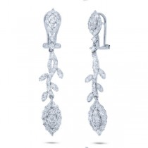 1.94ct 18k White Gold Diamond Earrings