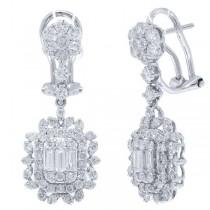 1.74ct 18k White Gold Diamond Earrings