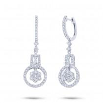 1.83ct 18k White Gold Diamond Earrings