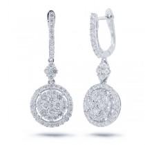 1.81ct 18k White Gold Diamond Earrings