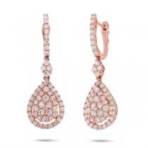 1.87ct 18k Rose Gold Diamond Earrings