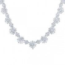 12.81ct 18k White Gold Diamond Necklace