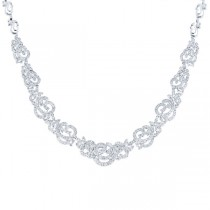 15.06ct 18k White Gold Diamond Necklace