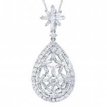 1.64ct 18k White Gold Diamond Pendant Necklace