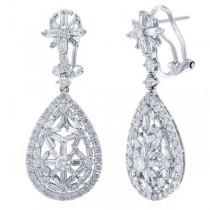 2.62ct 18k White Gold Diamond Earrings
