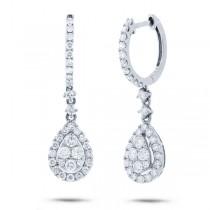 1.20ct 18k White Gold Diamond Earrings