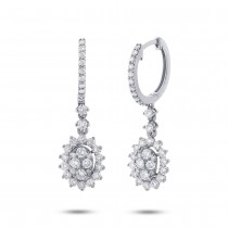 1.15ct 18k White Gold Diamond Earrings